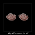 20093071, Cabochon resin, pudder rose, 13x5 mm