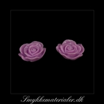 20093072, Cabochon resin, lilla rose, 13x5 mm