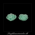 20093082, Cabochon resin, mint rose, 13x5 mm