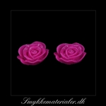 20093087, Cabochon resin, pink rose, 13x5 mm